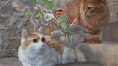 Photo of 油畫中出現的貓咪 日本藝術家引貓奴大讚
